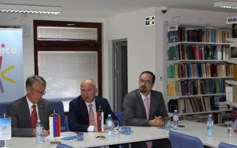 Petnica ministar Popovic i ambasador Cepurin u poseti